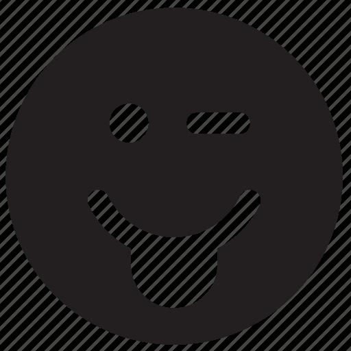 emoji, emoticon, face, out, sticking, stikc, tongue icon