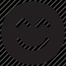 emoji, emoticon, face, happy, smile, smiley, smiling icon