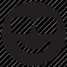emoji, emoticon, emotion, face, sunglasses icon