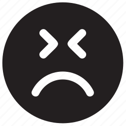 angry, emoji, emoticon, emotion, face, frown, mad, sad icon
