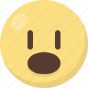 atonished, emoji icon