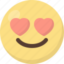 emoji, in, love icon