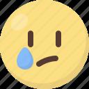 emoji, tear icon
