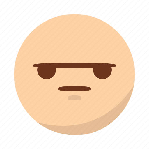 angry, bored, emoji, emoticon, face, tired icon