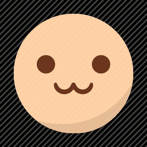 cute, emoji, emoticon, face, happy, smile icon