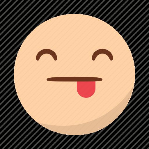 emoji, emoticon, face, happy, smile, tongue icon