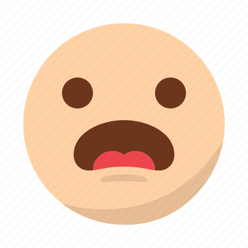 emoji, emoticon, face, shocked, surprised icon
