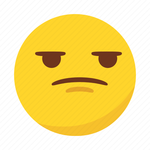 angry, bored, emoji, emoticon icon