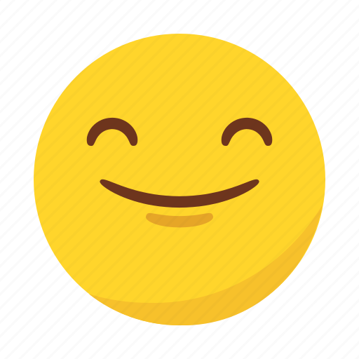 emoji, emoticon, happy, satisfacted, smile icon