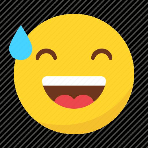 drop, emoji, emoticon, happy, smile icon