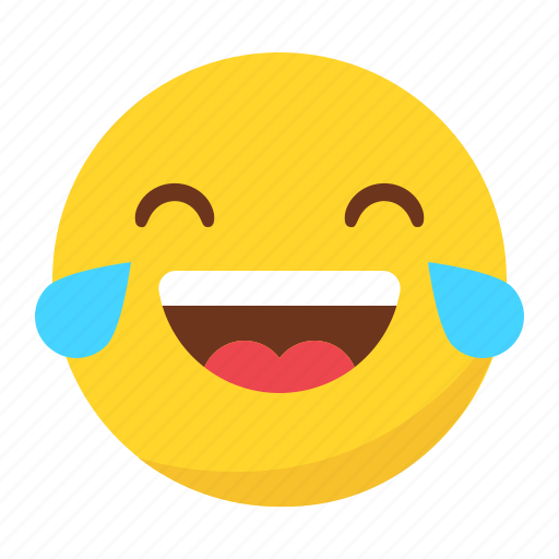 cry, emoji, emoticon, happy, laugh, smile icon