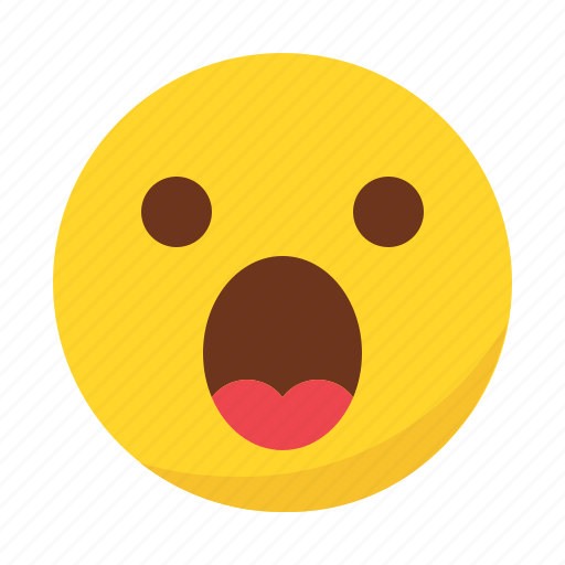 emoji, emoticon, surprised icon