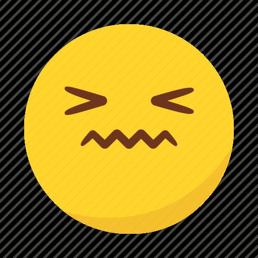 disgusted, emoji, emoticon icon