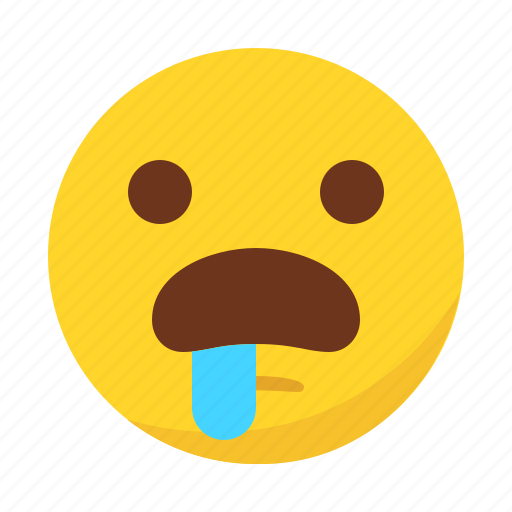 Hungry drooling emoji face vector. Hungry emoji smiley... vector ...