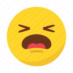 emoji, emoticon, pain, sad icon