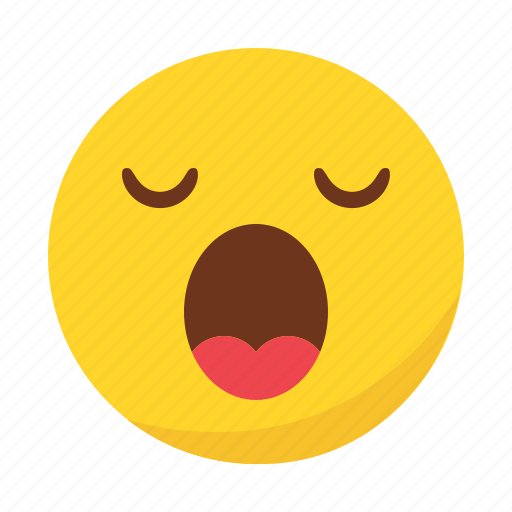 emoji, emoticon, sleep, sleeping, yawn icon
