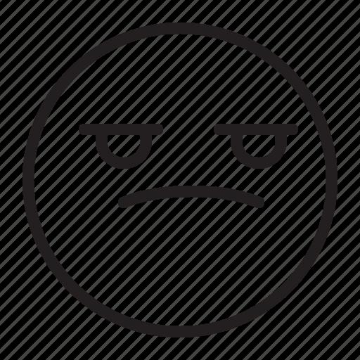 Angry, bored, emoji, emoticon, sad icon - Download on Iconfinder