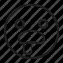 emoji, emoticon, hungy icon