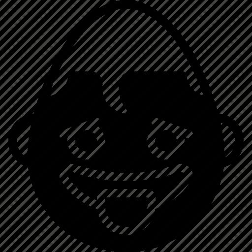 emojis, emotion, face, smiley, superman, tongue icon