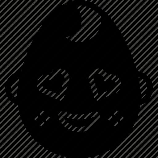 baby, boy, emojis, emotion, face, happy, smiley icon