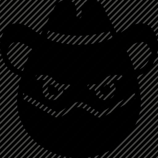 cowboy, emojis, emotion, face, masked, smiley icon