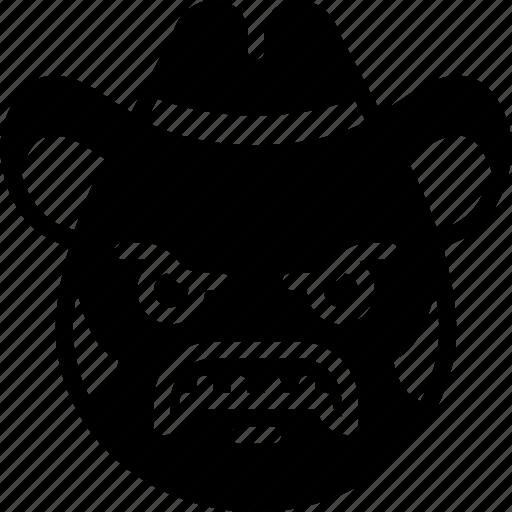 Cowboy, emojis, emotion, face, mustache, smiley icon - Download on Iconfinder