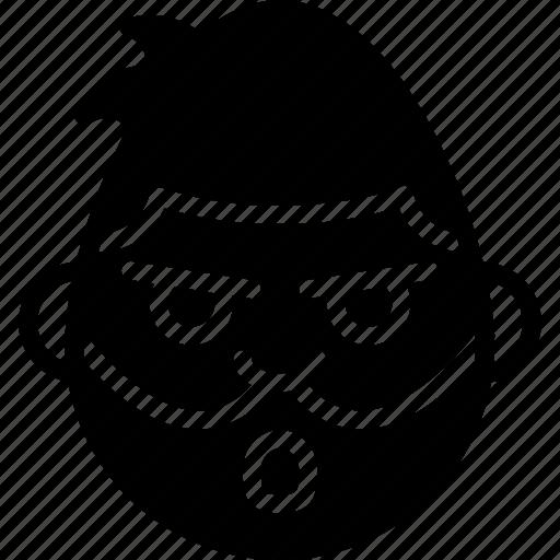 emojis, emotion, face, man, masked, smiley icon