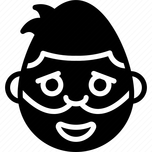 emojis, emotion, face, happy, man, masked, smiley icon