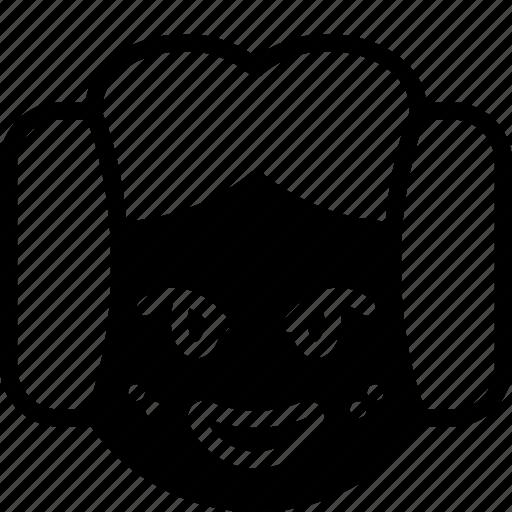 emojis, emotion, face, lea, princess, smiley icon