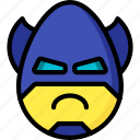 angry, batman, emojis, emotion, face, smiley icon