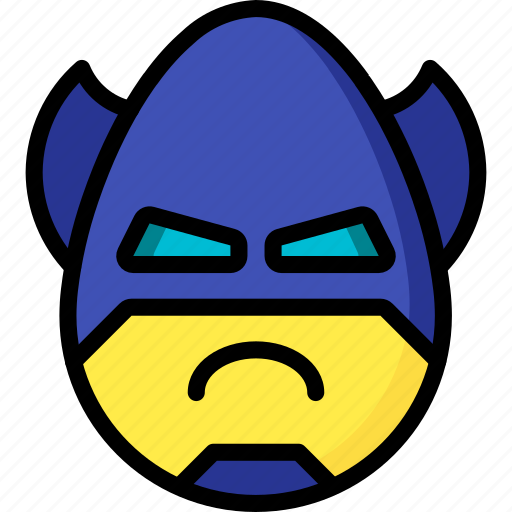 Angry, batman, emojis, emotion, face, smiley icon - Download on Iconfinder