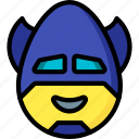 batman, emojis, emotion, face, happy, smiley icon