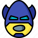 batman, emojis, emotion, face, shout, smiley icon