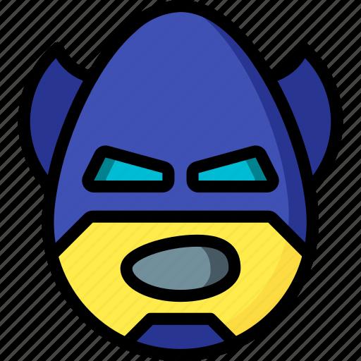 batman, emojis, emotion, face, shout, smiley icon