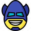 batman, emojis, emotion, face, happy, smiley