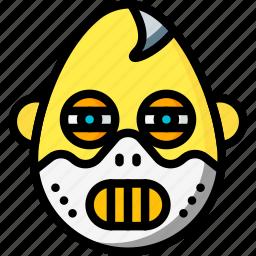 emojis, emotion, face, hannibal, smiley icon