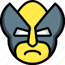 emojis, emotion, face, smiley, wolverine icon