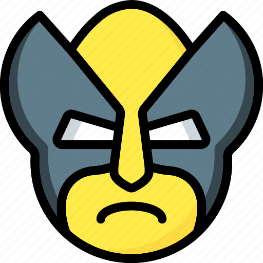 emojis, emotion, face, smiley, wolverine icon