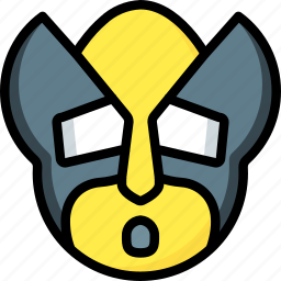 emojis, emotion, face, oh, smiley, wolverine icon