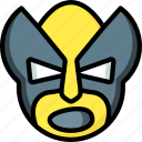 emojis, emotion, face, shout, smiley, wolverine icon