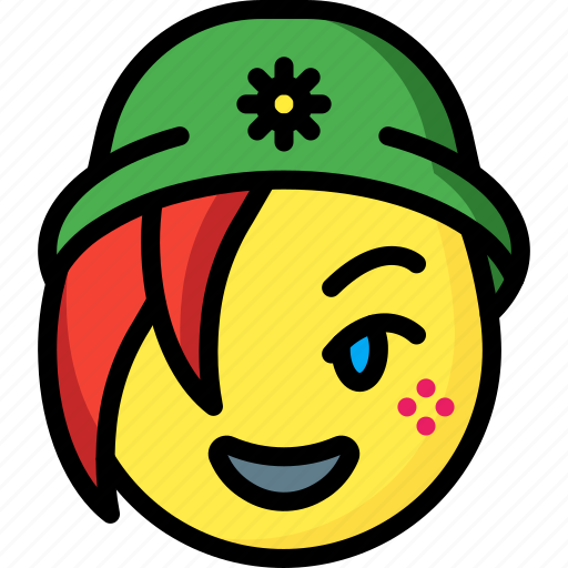 Beanie, emojis, emotion, face, girl, smiley icon - Download on Iconfinder