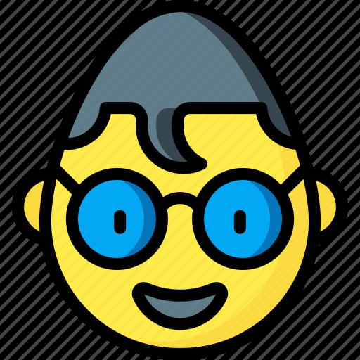 Emotion, clark, smiley, face, kent, emojis icon