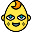 baby, boy, emojis, emotion, face, smiley icon