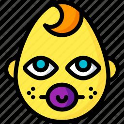 baby, boy, dummy, emojis, emotion, face, smiley icon