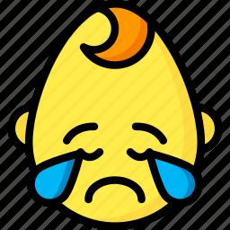 baby, boy, cry, emojis, emotion, face, smiley icon