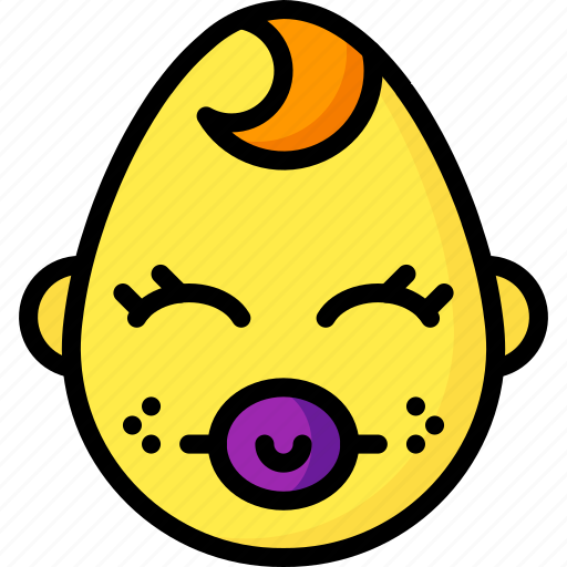baby, boy, dummy, emojis, emotion, face, smiley icon