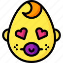 baby, boy, emojis, emotion, face, love, smiley icon