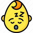 baby, boy, emojis, emotion, face, sleep, smiley