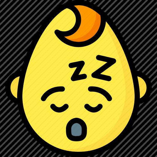 baby, boy, emojis, emotion, face, sleep, smiley icon