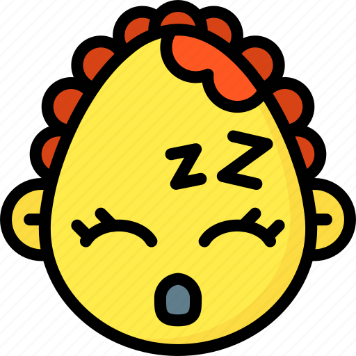 baby, emojis, emotion, face, girl, sleep, smiley icon